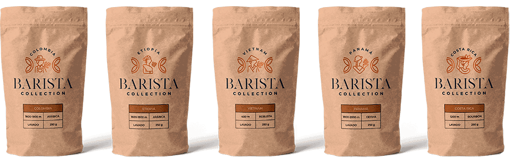 Varios envases de Barista Collection