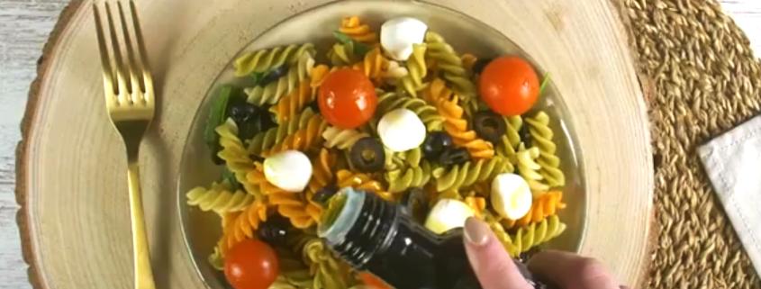Receta de ensalada vending Delikia con Fusilli, tomates cherry y mozzarella